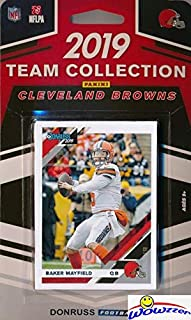 Cleveland Browns 2019 Donruss NFL Football Limited Edition 10 Card Complete Factory Sealed Team Set with Baker Mayfield, Odell Beckham Jr, Nick Chubb, Greedy Williams & More Stars & Rookies! WOWZZER!