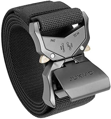 JUKMO Tactical Belt Military Hiking Rigger 1 5 Nylon Web Work Belt with Heavy Duty Quick Release product image