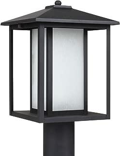 Sea Gull Lighting 89129-12 Hunnington One Light Outdoor Post Lantern, Black