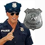 NET TOYS Metall Polizei Abzeichen Polizisten Marke Dienstmarke Polizeimarke Polizeiabzeichen Polizeimarken Dienstmarken als Kostüm Zubehör -