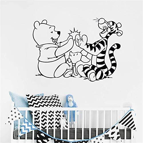 Winnie l'ourson sticker mural Winnie l'ourson Tigger cochon dessin animé détachable chambre chambre d'enfant décor