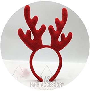 XLEIYI Oversized Antlers Headwear Christmas Deer Ears Headbands Elk Hairpins Cute Headbands Children's Christmas Hair Accessories (Color : B)