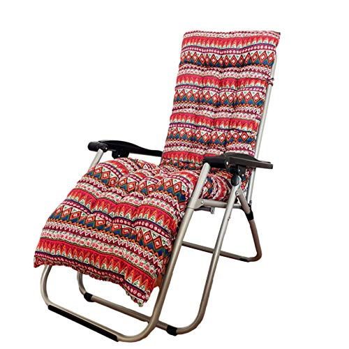 Hongjingda Outdoor Chaise Lounger Cushion, Flax Rocking Chair Mat Patio Recliner Cushion, Folding Thickened Lazy Chair Sofa Cushion for Indoor Outdoor Four Seasons Universal