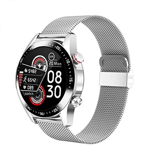 KKZ E Nuevo E12 Smart Watch Men's Bluetooth Llamar a Smart Watch Women's Impermeable Fitness Tracker,B
