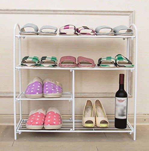 Porte-chaussures pour meubles d'entrée Porte-chaussures Fer à repasser simple Porte-chaussures étagère étagère blanc Cabinet de meuble-WXP (taille : Four layers)