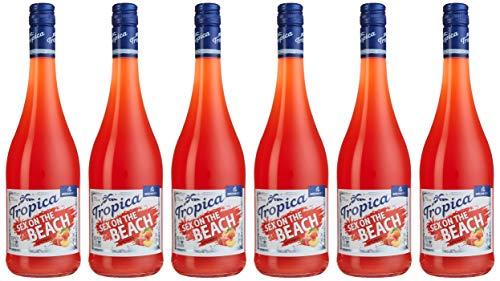 Katlenburger Tropica Sex on the Beach 6 x 0,75 l, trinkfertiger Cocktail; 70% Fruchtwein, Erdbeer- Pfirsichgeschmack; mit Kohlensäure 7%vol