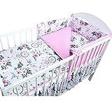 Callyna - Juego de ropa de cama para bebé transpirable de 180 cm y fundas. Conjunto de cu...