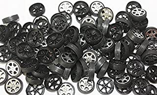 WP-TT 100pcs Plastic Roll 2mm Dia Shaft Car Truck Model Toys Wheel (30mmx9mm )