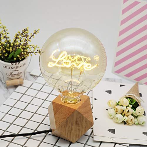 FairOnly - Lampada a LED a Forma di Lettera d'Amore G125 Edison con Conchiglia Gialla per Decorazione Domestica Voltage 220v Power 4w Support Dimming - Love