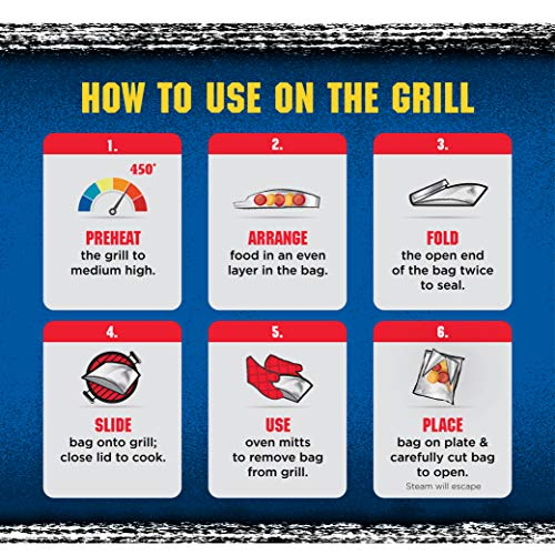 Kingsford Grilling Extra Tough Aluminum Grill Bags, For Locking in Flavors & Easy Grill Clean Up, Recyclable & Disposable, 15.5