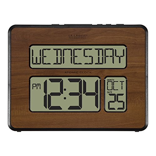 La Crosse Technology 513-1419-WA-INT Atomic Large Full Digital Calendar Clock