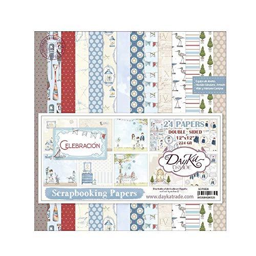 Dayka Trade Kit de Scrapbooking Celebraciã³n Niã±o Dayka 30x30cm, Azul, Regular