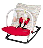 Safety 1st 28008820 Mellow Bouncer, kuschelige und farbenfrohe Babywippe, red dot