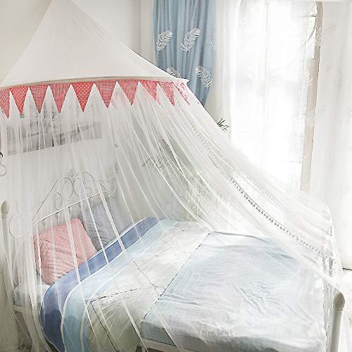 ASDFGH Kuppel Prinzessin Moskitonetz Netting-vorhänge, Spitze Kinder moskitonetz Großbild-Netting betthimmel Haus & Reisen, Kostenlose Installation-B 135x200cm(53x79inch)