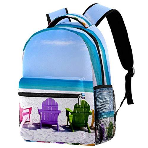 Lorvies Strandstühle, lässiger Rucksack, Schulterrucksack, Büchertasche für Schule, Studenten, Reisetaschen