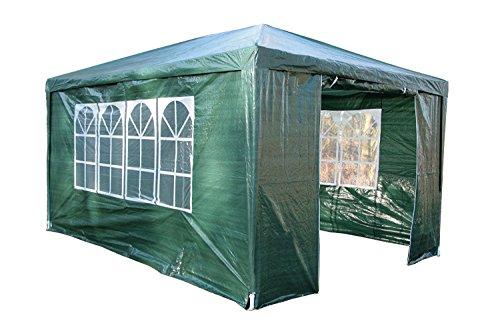 SavingPlus 3Mx4M PE Garden Gazebo partytent luifel luifel partij bruiloft tent volledige zijwand UK Groen