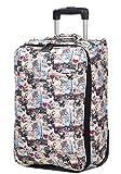Handgepäck Trolley Bordgepäck Reisetasche Koffer Paris Beige 50 x36x20cm Bowatex