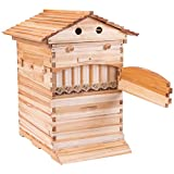 Goplus Beehive Frames Flow Honey Wooden Beehive House Bulk Automatic...
