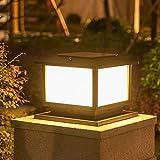 Libuty Estilo Europeo solar Columna Faros, estilo industrial simple, creativas patio al aire libre Luces, LED luces montante de la puerta, de Post al aire libre luces, al aire libre Pon luces anochece