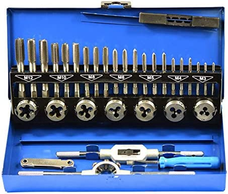 CNmuca 32PCS Professional Tap Die Set Tools Sheet for Minneapolis Mall Hand Metal Max 54% OFF