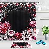 Halloween Süßigkeiten Augen Lutscher Spinnennetz Duschvorhang Set 12 Haken für Duschvorhang wasserdichtes Badezimmerdekor