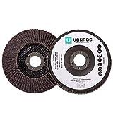 Discos de lámina para lijadoras VONROC - Juego de 2 piezas - K40 & K60 - Ø 125 x 22,2 mm