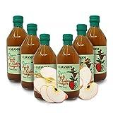 Carioni Food & Health Vinagre de manzana orgánica, 500 ml, paquete de 6 unidades