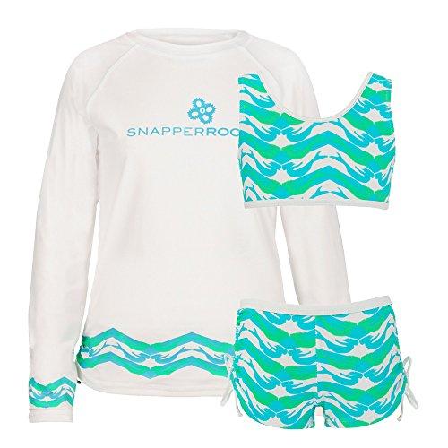 Snapper Rock meisjes UPF 50+ zonwering tweedelige set UV-shirt lange mouwen & bikini voor kinderen