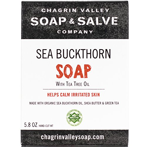 Chagrin Valley Soap & Salve - Organic Natural Soap Bar - Seabuckthorn & Tea Tree Soap