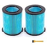 Huante Filtro de repuesto para filtro de vacío rígido VF5000 Vac de 6-20 galones de 3 capas de papel plisado para WD1450 WD1270 WD09700, etc.