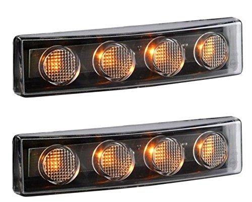 2 luces LED para techo de cabina de color naranja para SCANIA serie 4 P R T G 12/24V E-marcado
