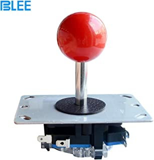 BLEE Red Ball Arcade Joystick Stick DIY Control Joystick with Microswitch 4 Way Fighting Stick Parts for Arcade Video Game.