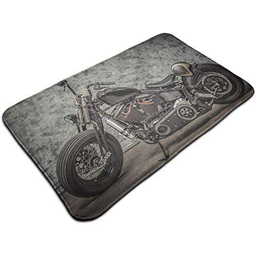 Harley Davidson Tapete para Motocicleta Tapete de Bienvenida Alfombrillas para baño 40x60 cm