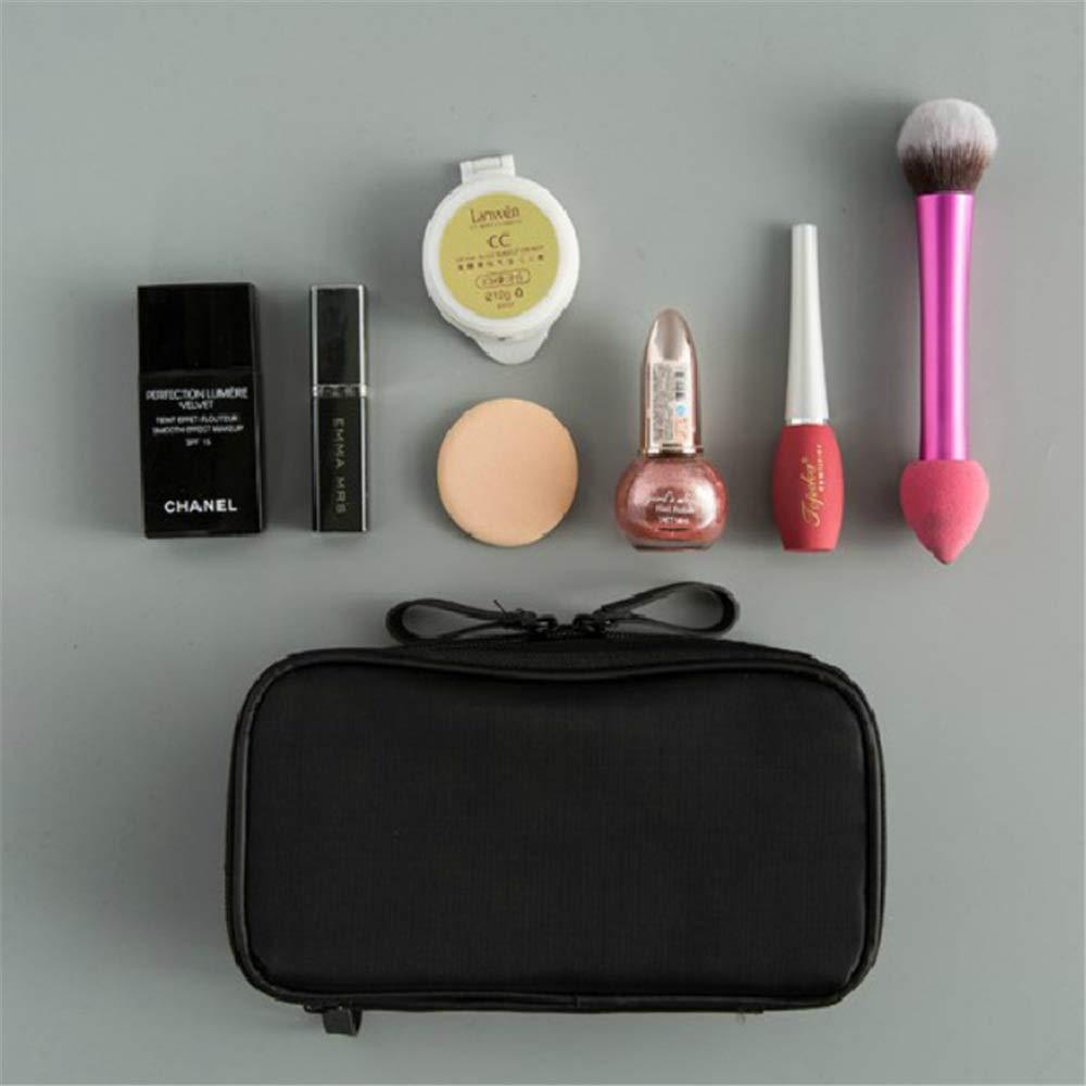 Estuche Cosmético Estuche de Maquillaje cosmético portátil con Cremallera Superior Maquillaje de Viaje Viaje Cajas de Maquillaje (Color : Negro): Amazon.es: Hogar