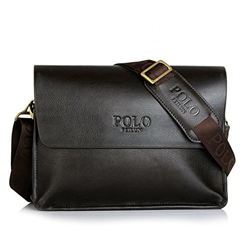 Men's Messenger Bag Classic Vintage Leather Shoulder Bags Crossbody Bags Business Briefcase Composite Leather Casual Bag (Brown)
