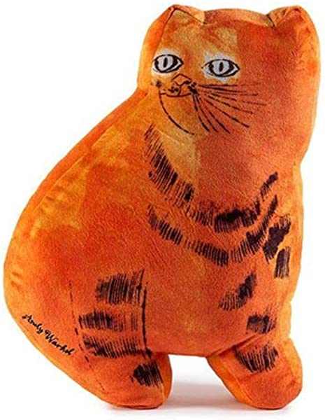 Kidrobot Andy Warhol Plush Cat Pillow Orange