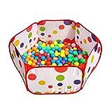 Amison Lindo Pop Up Hexagon lunares niños pelota Play piscina tienda...