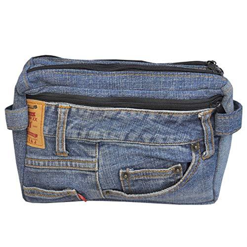 wifash Jeans Jeanstasche aus Jeanshosen genäht Umhängetasche Rucksack Schultertasche/Upcycling - aus Alt mach Neu (Gürteltasche 42095)