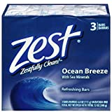 Zest Bar Soap 3 ct, ocean breeze, 12 Ounce