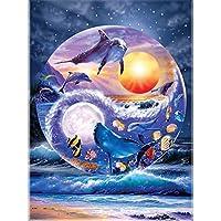 大人のための6000ピースのジグソーパズル海と魚の学校大人のためのジグソーパズル教育ゲームチャレンジおもちゃ大人の子供のための6000ピースのパズル-70.66x41.53インチ(179.5 x 105.5cm)