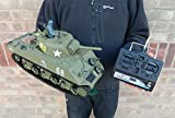 Heng Long Radio Remote Control RC M4A3 Sherman Tank 1:16th Scale Ready to Run!