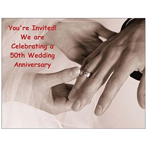 50th Anniversary Invitations Amazon Com