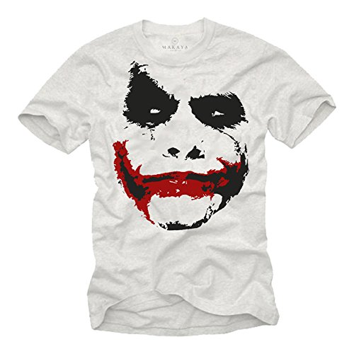 MAKAYA Camiseta Joker Hombre Negro XXL