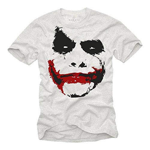 Cooles Herren T-Shirt Joker - FACE weiß Größe L