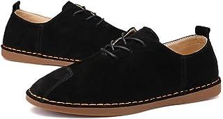 [QIFENGDIANZI] メンズ カジュアルシューズ デッキシューズ 靴 ドライビングシューズ スニーカー 紳士靴 ローカット アウトドア オシャレ スリッポン コンフォート ブラック グレー ブラウン