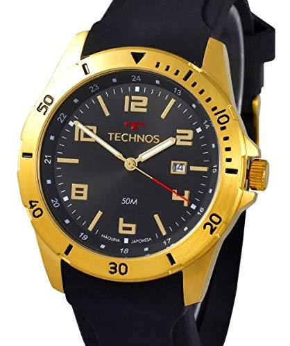 Relógio Technos, Pulseira de Silicone, Masculino, Dourado