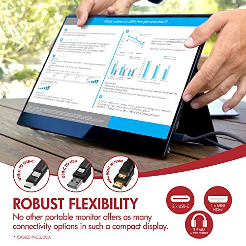 VIOTEK LinQ Touch P16CT 16-Inch Class Portable Touchscreen Monitor | Ultra-Slim IPS w/FreeSync | USB-C, HDMI, 3.5mm Port with Speakers | USB-C DP ALT-Mode Required for Touch Functions