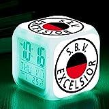 Reloj Despertador LED Países Bajos Fútbol Club Reloj Digital Temperatura Pantalla Niños Juguete Mesa Touch Mini