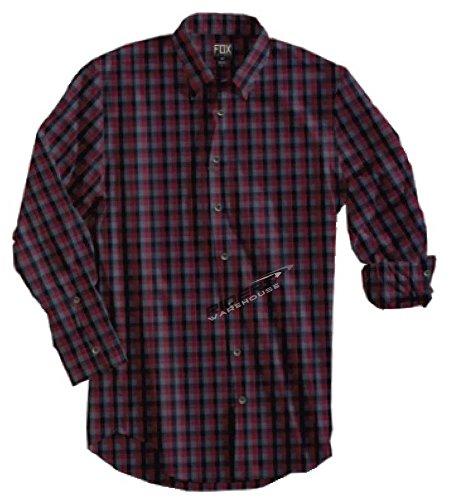 Fox - - Ethan Shirt Manches Longues Homme, Small, Burgundy