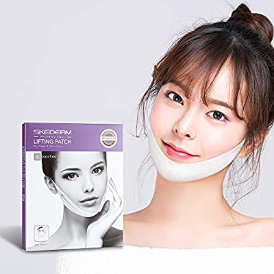 KOVAS SKEDERM Lifting Band Patch for Face and Chin Line, Double Chin Reducer, Chin Up, V Shaped Slimming Face Mask, Pack of 5 SKEDERM Lifting Band Patch for Face and Chin Line, Chin Up, V Shaped Slimming Face Mask